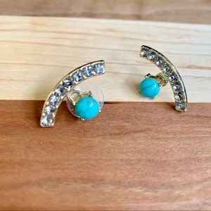 BaubleBar Jewelry - BaubleBar Rhinestone & Turquoise Earrings